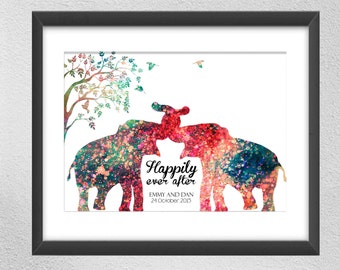 Personalized Wedding gift Personalized Gift Personalized Prints Personalized Anniversary Gift
