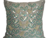 Bird Pillows Bird on Branch Pillows 16X16 Bird Pillow Bird Decorative Pillow Love Birds Pillows Love Birds Accent Pillow