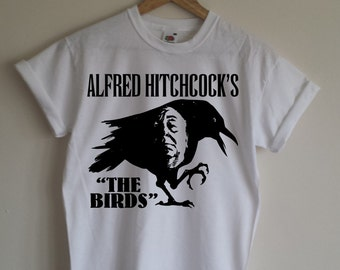Alfred Hitchcock's The Birds T-shirt - Cult Horror Film, Various Sizes/Colours