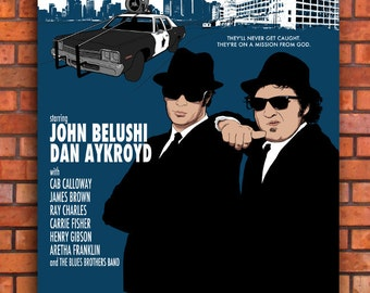 The Blues Brothers Movie Canvas Art Print A1 A2 A3 A4