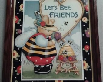 Lets BEE Friends 3D wall art