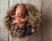 Newborn Boy Brown Stripe Pants Photography Prop