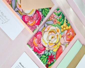 Bright Floral Stationery Set (Set of 8)