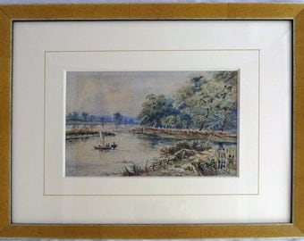 Turn of the century water color With Boaters