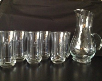 Vintage Pitcher and Glass Set Never Used