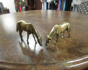 Pair of Brass Horses