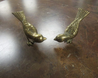 Pair of  Brass Birds