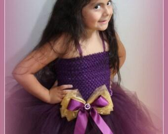 Eggplant tutu dress, eggplant wedding tutu, Eggplant girl tutu, girl tutu dress, Eggplant tutu, toddler tutus, purple tutu dress, girl tutus