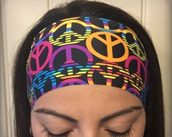 Rainbow Peace - Non-slip athletic headband