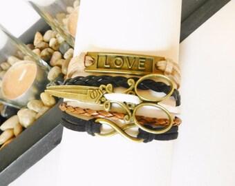 HAIR STYLIST Hair Dresser Beauty Salon Love Scissors Infinity Adjustable Bracelet