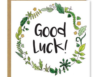 Good luck card | Floral greetings card