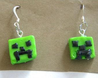 Minecraft Creeper Earrings