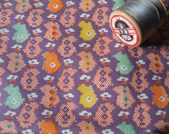 vintage length of cotton geometric fabric