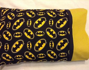 Batman Standard  Size Pillowcase, Toddler Pillow, Child Pillow, Batman Fan, Boy Gift, Batman Gift, Bedding, Batman Bedding