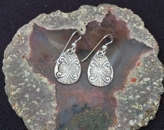 Double Shell Fine Silver Earrings
