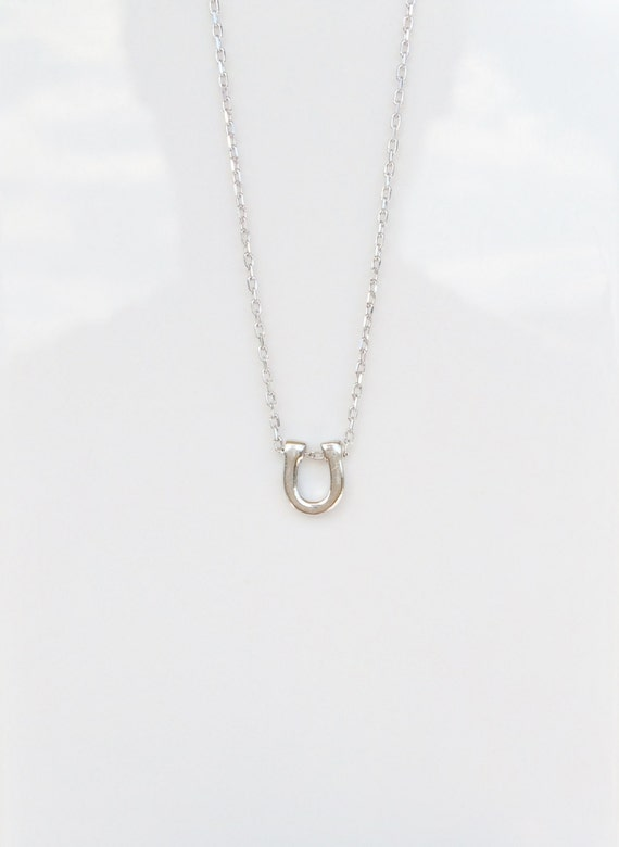 horseshoe necklace real solid sterling silver, everyday SPECIAL LOW PRICE