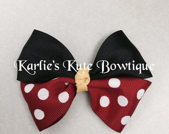 3.5 inch Mickey Mouse Hairbow