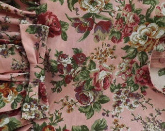 Childs Pink Floral Vintage Style Dress Age 2