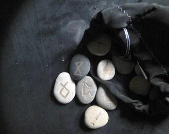 Engraved Rune stone set.