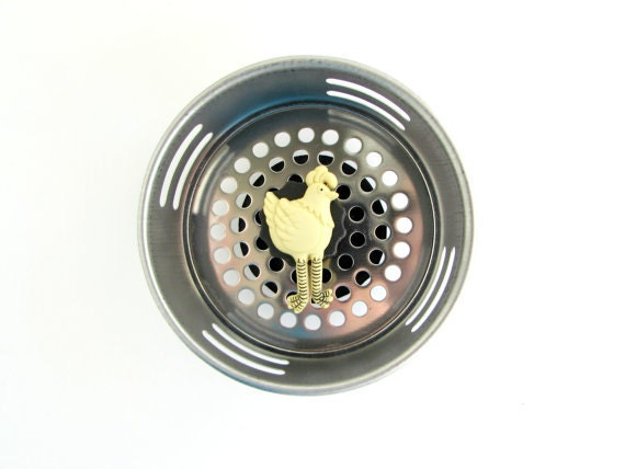 Chicken sink strainer chicken decor farm decor by accessoriesbyash - Decorative kitchen sink strainers ...