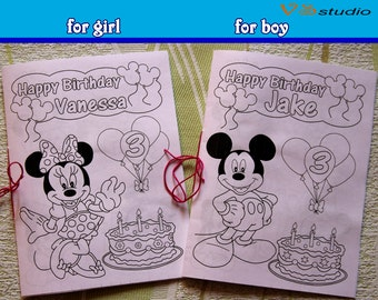 Minni and Mickey Mouse coloring, activity book, PDF file