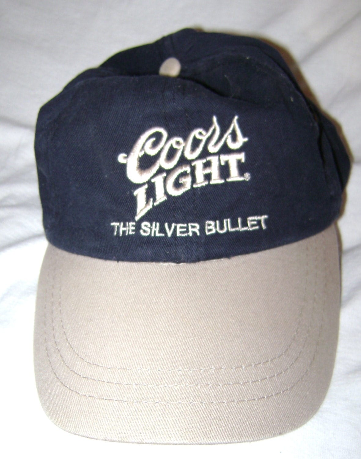 coors light the silver bullet embroidered baseball cap hat