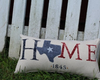 "Texas ""Home"" Pillow"