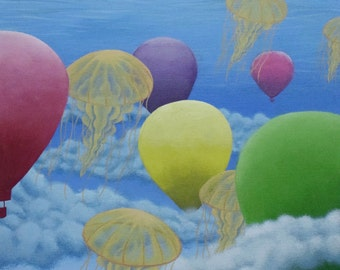 """Fine Art Print; """"To Float""""; 9x11 inches; Giclee print on fine art paper"""