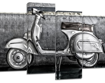 Vespa Retro/ photography / set of 4 canvas prints /32x20