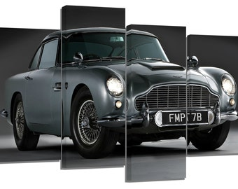 Aston Martin DB5 / set of 4 canvas prints /32x20