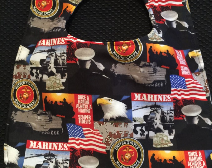 Baby Bib U.S. Marine Corp Printed Fabric, Available in 3 Sizes!!