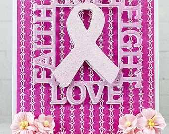 Handmade Breast Cancer Find The Cure Card