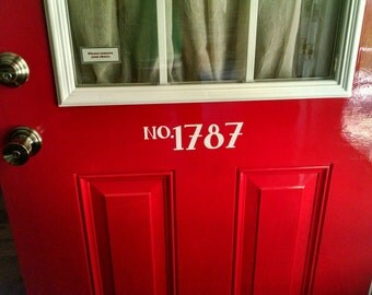 Vinyl Home Number for door
