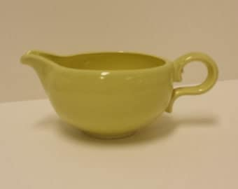 Vintage Bauer Mid Century Spackleware, Chartrause Creamer; Retro, California Pottery