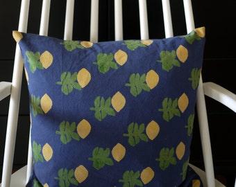 "block printed cushion cover ""Capri"""