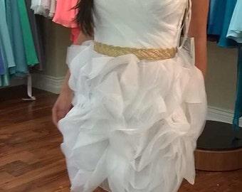 Gold Belt, Metallic Gold Sash, Bridal Sash, Bridal Gold Sash, Bridesmaid Gold Sash,Prom Sash, Gold Sash Belt