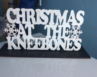 Personalised wooden christmas at the .. plinth