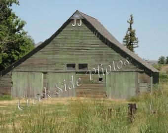 Instant Digital Download  J J Barn, Plush Oregon, Green Barn, Ranch, Historical, Wall Art