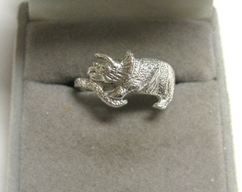 Dinosaur ring solid Sterling Silver handmade no stone U.S.A. 125152