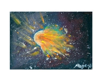 Space comet Print.