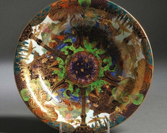 Rare Wedgwood Fairyland Lustre Lily Tray Z4968 Garden Of Paradise