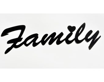 Family Metal Sign - Great Gift for Wedding Favor - House Warming