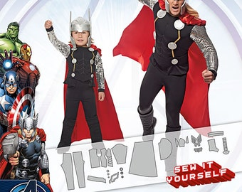 Simplicity Pattern 1038 Boys' and Men Costumes Avengers Thor