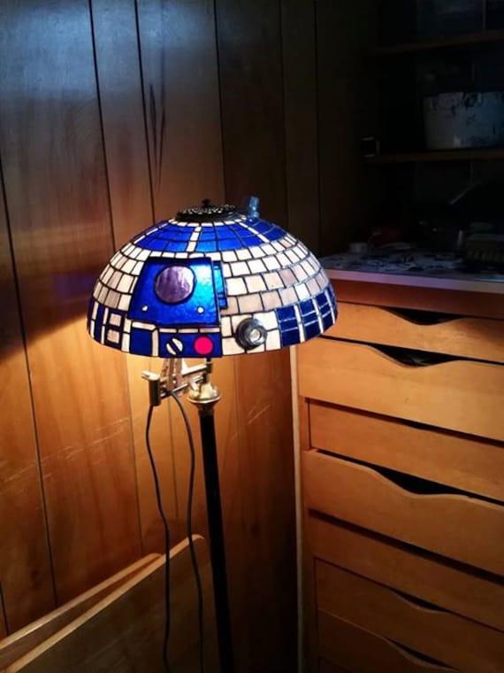 star wars  tiffany style lamp shade