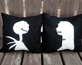 Jack Skellington Pillow, The Nightmare Before Christmas, Halloween Pillow, Halloween, Halloween Decor, Jack and Sally, Gift,