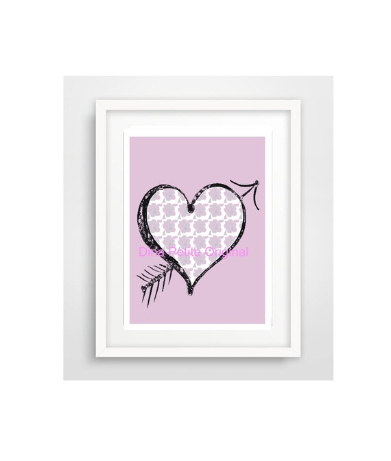 Wall Art Love Heart : Printable love heart wall art by