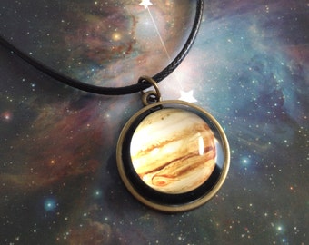 Jupiter necklace,astronomy jewelry,Jupiter Planet Necklace,solar system necklaces,astronomy necklace,planet necklace,Planet Jewelry
