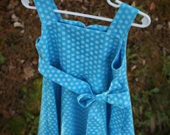 Blue Polka Dot Sundress Girl Size 3