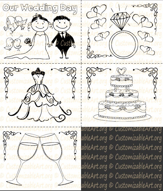 Wedding Coloring Book Kids Printable Wedding Activity Book