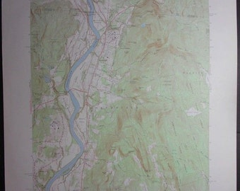 Vintage Northfield Massachusetts Topographic Map 1970 Connecticut River Border Of Ma Nh